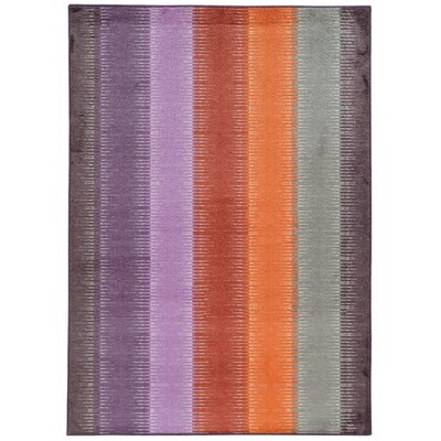 Prismatic Geometric Purple/Orange Area Rug Rug Size: 6'7