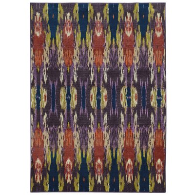 Prismatic Abstract Purple/Orange Area Rug Rug Size: Rectangle 53 x 76