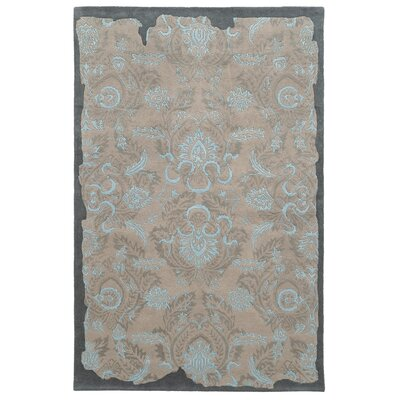 Color Influence Distressed Look Grey / Blue Area Rug Rug Size: 36 x 56