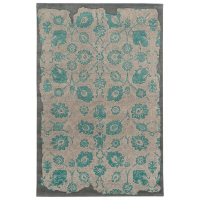 Color Influence Distressed Look Grey / Green Area Rug Rug Size: 3'6