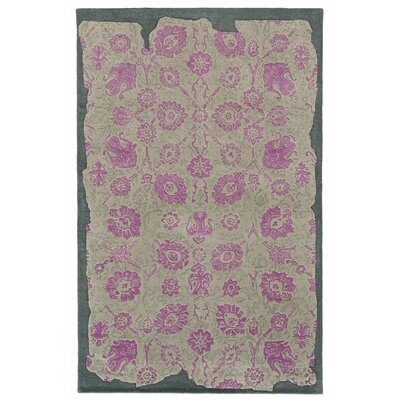 Color Influence Distressed Look Grey / Pink Area Rug Rug Size: Rectangle 10 x 13