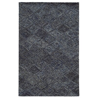 Colorscape Hand-Tufted Geometric Blue/Grey Area Rug Rug Size: 36 x 56