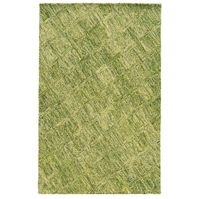 Colorscape Geometric Hand-Tufted Green Area Rug Rug Size: Runner 26 x 8