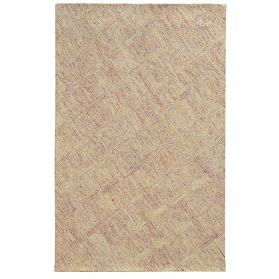 Colorscape Hand-Tufted Geometric Pink/Beige Area Rug Rug Size: Runner 26 x 8