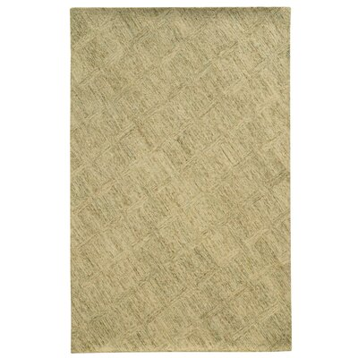 Colorscape Hand-Tufted Beige/Stone Geometric Area Rug Rug Size: Rectangle 36 x 56