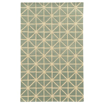 Optic Grey/Ivory Geometric Area Rug Rug Size: Rectangle 5 x 8