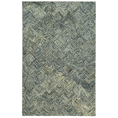 Colorscape Hand-Tufted Charcoal/Beige Geometric Area Rug Rug Size: 5 x 8