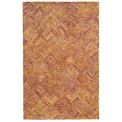 Colorscape Geometric Hand-Tufted Orange/Pink Area Rug Rug Size: Runner 26 x 8