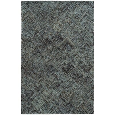 Colorscape Geometric Charcoal & Blue Area Rug Rug Size: Rectangle 5 x 8