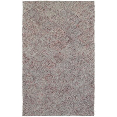 Colorscape Hand-Tufted Geometric Rust/Gray Area Rug Rug Size: Rectangle 3'6