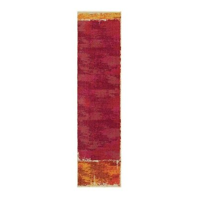 Expressions Abstract Red Area Rug Rug Size: Runner 27 x 10