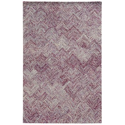 Colorscape Hand-Tufted Geometric Purple Area Rug Rug Size: 36 x 56