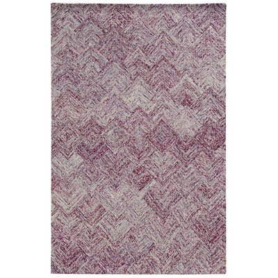 Colorscape Hand-Tufted Geometric Purple Area Rug Rug Size: 5 x 8