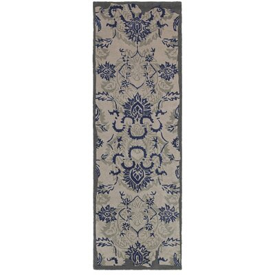 Color Influence Distressed Look Grey / Blue Area Rug Rug Size: Runner 26 x 8