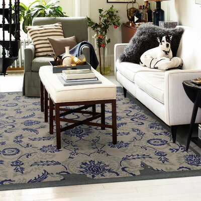Color Influence Distressed Look Grey / Blue Area Rug Rug Size: 5 x 8
