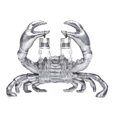 Coastal Crab Hanging 3 Piece Salt and Pepper Set