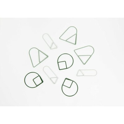 Paper Clips (Set of 3) Color: Green