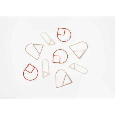 Paper Clips (Set of 3) Color: Red