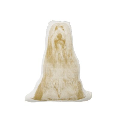 MINI Bearded Collie Throw Pillow