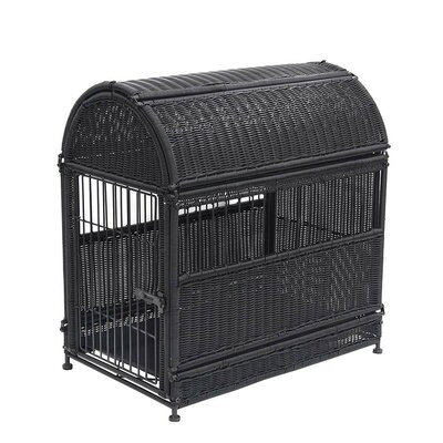 Dog House Color: Black, Size: Small (25.5 H x 18.25 W x 24 D)