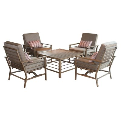Forby 5 Piece Patio Seating Group with Cushions