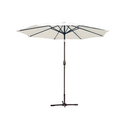 9ft Market Umbrella Frame Finish: Grey, Fabric: Tan