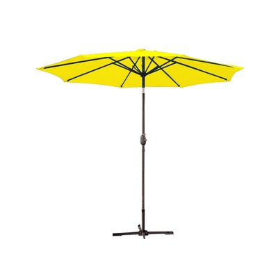 9ft Market Umbrella Frame Finish: Grey, Fabric: Yellow