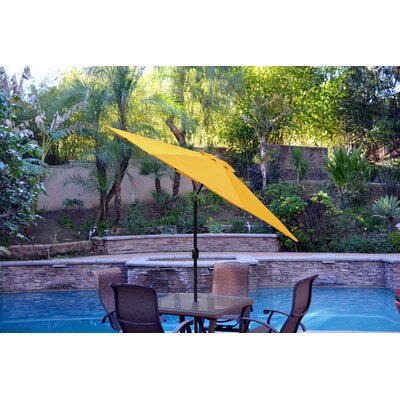 9ft Market Umbrella Frame Finish: Black, Fabric: Yellow