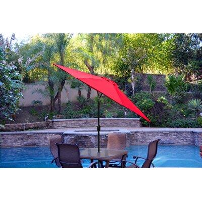 9ft Market Umbrella Fabric: Red, Frame Finish: Black