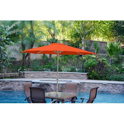 9 Market Umbrella Color: Orange, Frame Finish: Gray