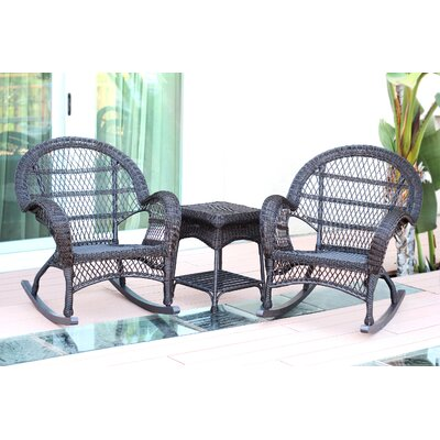 Santa Maria Wicker 3 Piece Rocker Seating Group Finish: Espresso