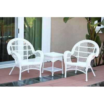 Santa Maria Wicker 3 Piece Seating Group Finish: White