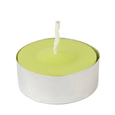 Citronella Tealight Candle Color: Green, Quantity: Set of 100 CTC-001