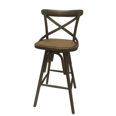 30 Swivel Bar Stool Finish: Brown