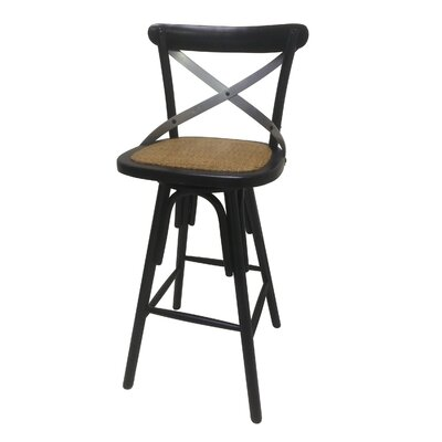Swivel Bar Stool Finish: Black