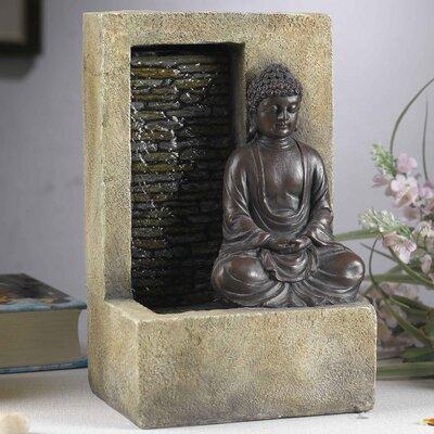 Resin/Fiberglass Buddha Tabletop Water Fountain FCT110