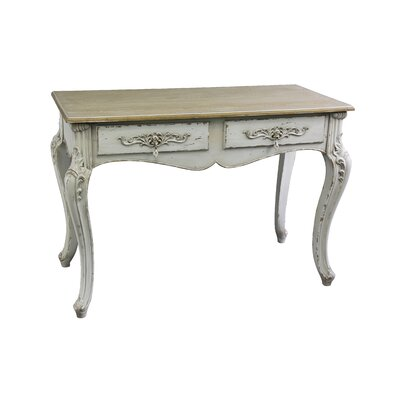 Antique 2 Drawer Console Table