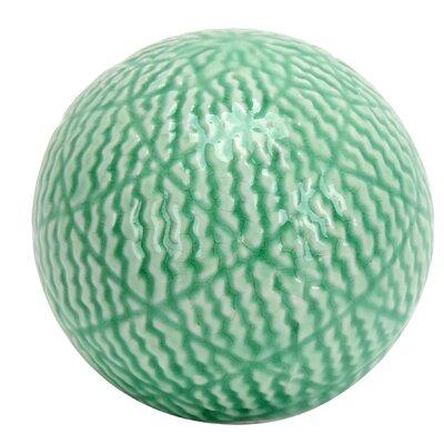 "Ceramic Sphere Sculpture Size: 4.7"" H x 4.7"" W x 4.7"" D HD-HAVS036"