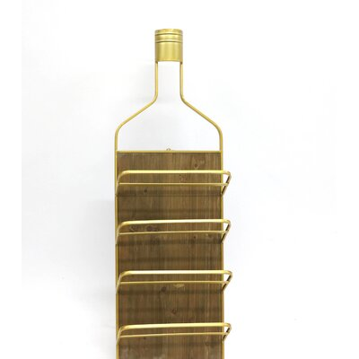 8 Bottle Floor Wine Bottle Rack