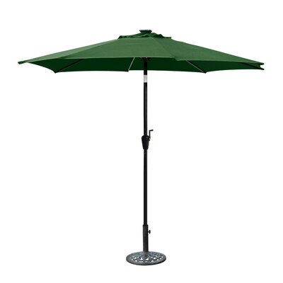 8.5 Solar Illuminated Octagonal Market Umbrella Fabric: Green