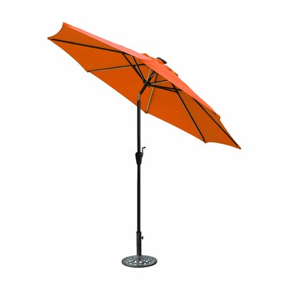 8.5 Solar Illuminated Octagonal Market Umbrella Fabric: Orange