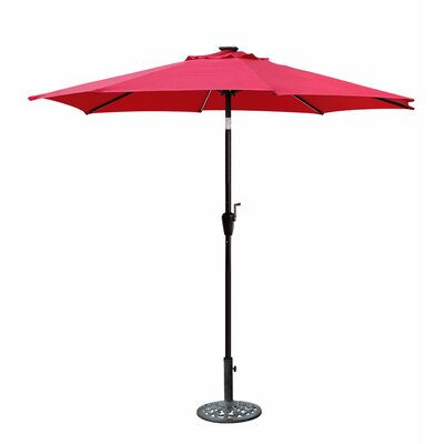 8.5 Aluminum Market Umbrella Color: Red