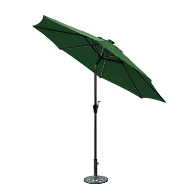8.5 Aluminum Market Umbrella Color: Green