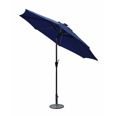 8.5 Aluminum Market Umbrella Color: Blue