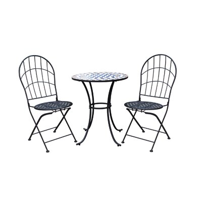 Racquel Patio 3 Piece Bistro Set