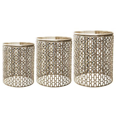 Hayworth 3 Piece End Table Set Finish: Gold
