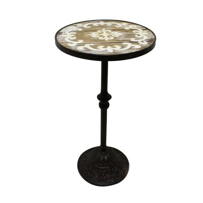 Amar Wood Top End Table