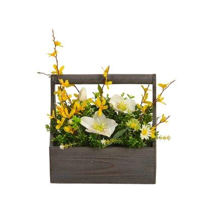 Floral Arrangement in Wooden Pot AGTG5361 43614961