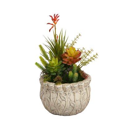 Floral Arrangement in Embossed Pot BGRS3565 43615059
