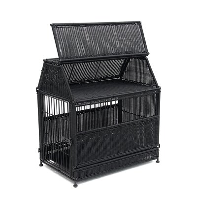 Dog House Color: Black, Size: Small (25.5 H x 18.25 W x 24 D